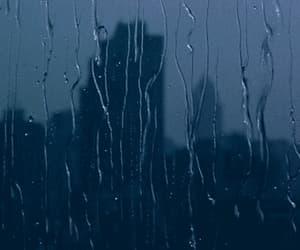 gif, rain, and city image