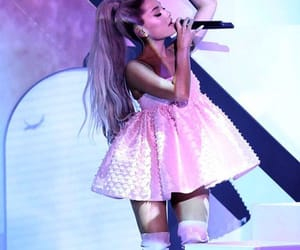 pink, purple, and ariana grande image