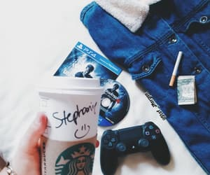 aesthetic, coffee, and gamer image