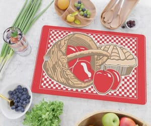 apples, checkerboard, and cutting board image