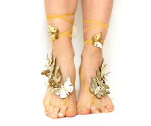 barefoot, summer, and nude shoes image