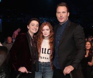 sadie sink, noah schnapp, and chris pratt image