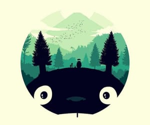 totoro, anime, and wallpaper image