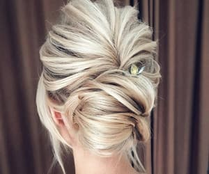 blonde, hair, and design image