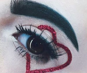 makeup, red, and love image