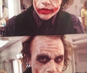 dark knight, heath ledger, and joker image