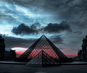 paris, sky, and louvre image