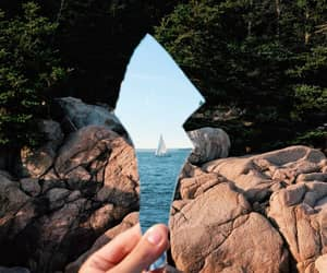 sea, nature, and photography image