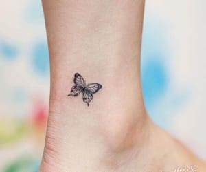 butterfly and small tattoo image