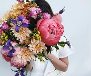 book, bouquet, and rose image