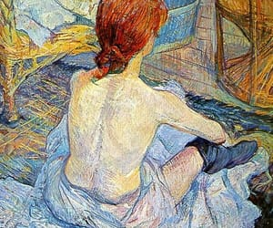 art, painting, and woman image