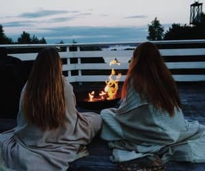 cozy, friends, and fire image
