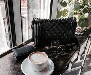 chanel, coffee, and fashion image