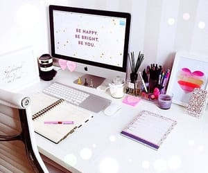 aesthetic, desk, and happy image