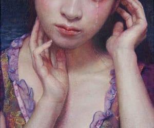 belleza, mujer, and tristeza image