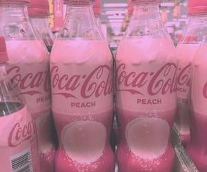coca cola, drink, and pink image