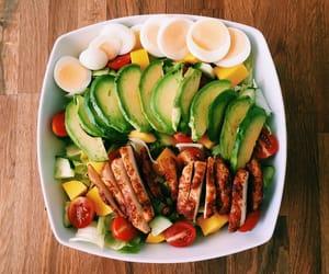 food, fitness, and salad image