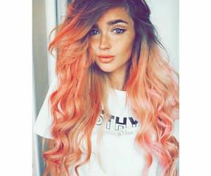 hair, برتقالي, and شعر image