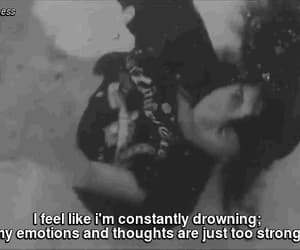 anxiety, black and white, and depressed image
