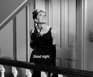 audrey hepburn, Breakfast at Tiffany's, and good night image
