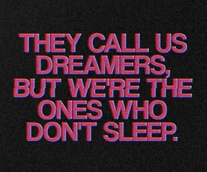 dreamers, pink, and quote image