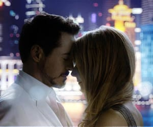 iron man, tony stark, and pepper potts image