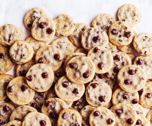 food, sweet, and chocolate chip cookies image