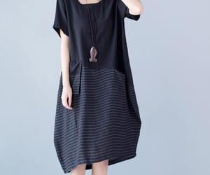 black dress, loose dress, and dresses for women image