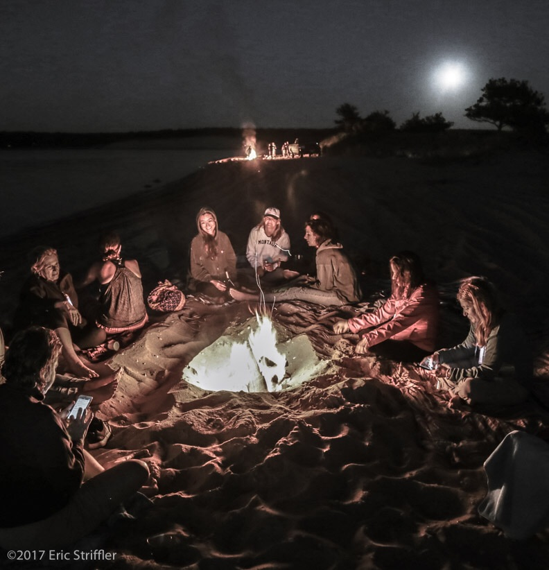 beach, beach party, and bonfire image