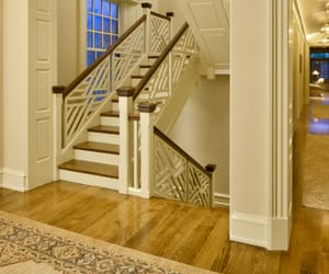 curved stair railing and custom stair railing image