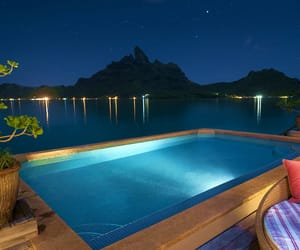 pool, bora bora, and holidays image