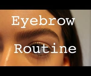 eyebrow, video, and eyebrow tutorial image
