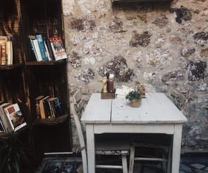 books, cafe, and vintage image