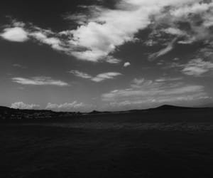 black, black and white, and clouds image