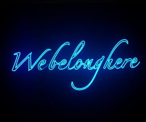 aesthetic, blue, and neon sign image