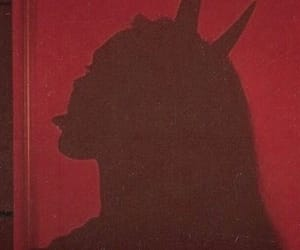 Devil, red, and goddess image