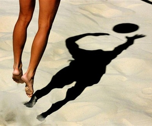 volleyball, summer, and beach image