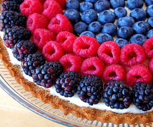food, fruit, and cake image