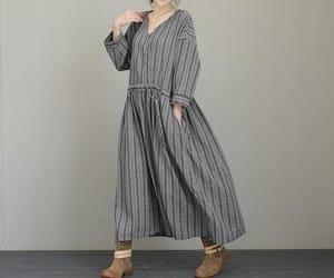 dresses, loose dress, and cotton dresses image