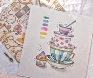 cups, draw, and drawing image