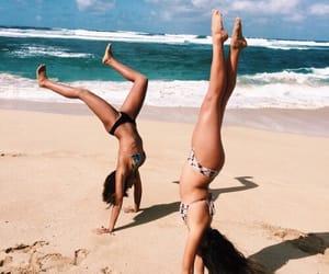 beach, best friends, and summer image