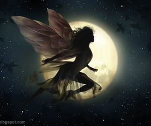 fairy, moon, and fantasy image
