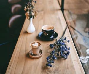 coffee table, flowers, and likefairytales image