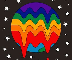 gay, hippie, and rainbow image