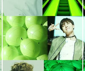 green, hobi, and wallpaper image