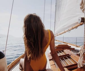 summer, girl, and boat image