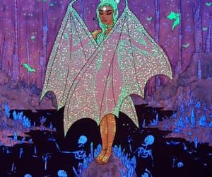 bat, bat girl, and demon image