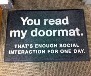 doormat, entrance, and one day image