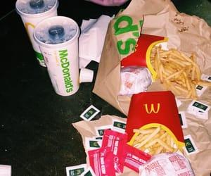 fries, hamburgers, and night image