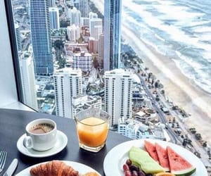 breakfast, food, and beach image